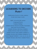 Decoding Practice Through Syllabication
