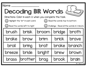 Decoding R Consonant Blend Words