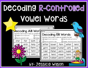 Decoding R-Controlled Vowel Words