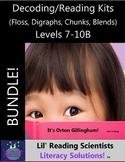 BUNDLE - Decodable Stories, Sentences, Words (Floss Rule/Digraphs/Chunks/Blends)