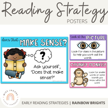 Decoding Reading Strategies - including Animal Beanie Baby Strategies {Rainbow}
