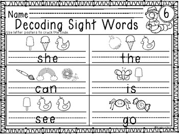 Decoding Sight Words - Customized