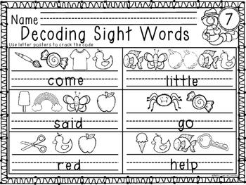 Decoding Sight Words - Pre-primer