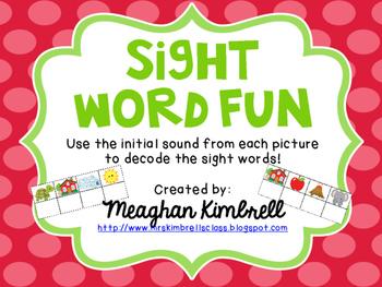 Decoding Sight Words {SAMPLE}