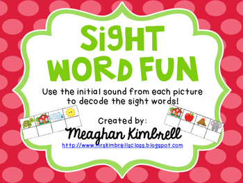 Decoding Sight Words {SAMPLE}