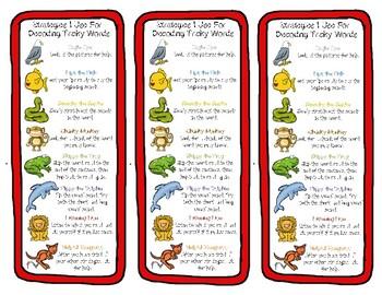 Reading Strategies Bookmarks