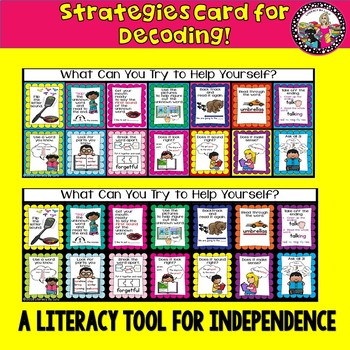 Decoding Strategies Card! Great Visuals! Create Independence!