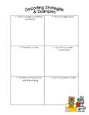 Decoding Strategies - Graphic Organizer