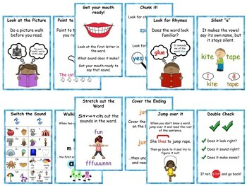 Decoding Strategies: Picture Cards and Bookmarks