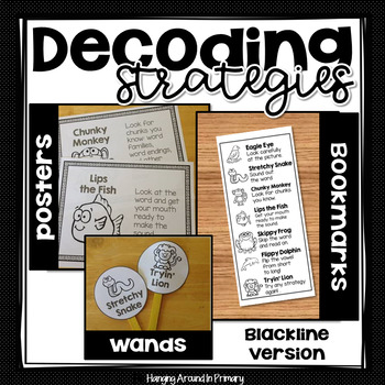 Guided Reading Strategies Posters and More - Blackline