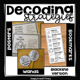 Guided Reading Decoding Strategies Posters and More - Blackline