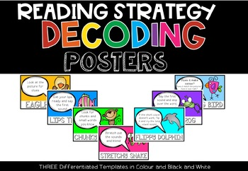 Decoding Strategies Posters (Beanie Baby)