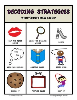 Decoding Strategies:  Posters, Chart and Notebook Entry
