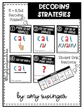Decoding Strategies Posters & Student Strips Resource