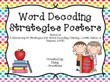 Decoding Strategies Posters in Bright Colors