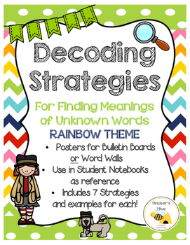 Decoding Strategies for Meanings of Unknown Words - Chalkboard Theme