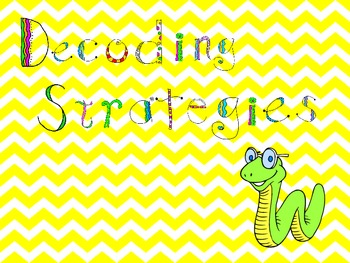 Decoding Strategies:ppt,strategy chart, differentiated activities, bookmarks