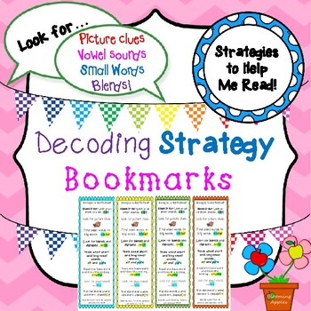 Bookmarks: Decoding Strategies for Struggling Readers with Pictures