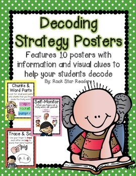 Decoding Strategy Posters {10 colorful & informative posters} Polka Dot Edition