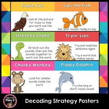Reading Strategy Posters Decoding