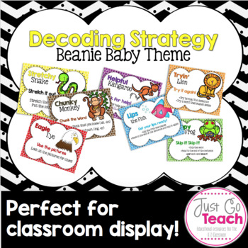Decoding Strategy Posters: Beanie Baby Theme