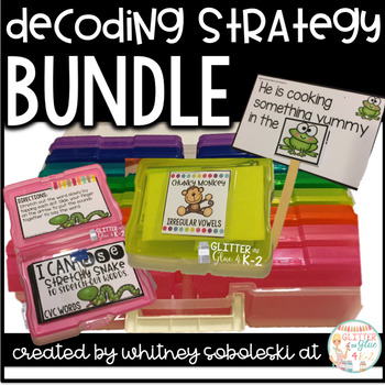 Decoding Strategy Task Card Bundle-Includes 7 Strategies, Posters, and More!