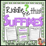 Suffixes (posters, worksheets & fun riddles)