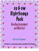 Decoding Test and Word Sort: ou & ow Diphthongs