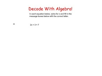 Decoding With Algebra