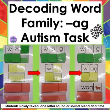 Decoding Word Family- ag (Autism and Special Education)