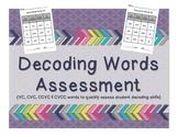 Decoding Words {VC, CVC, CCVC, CVCC}