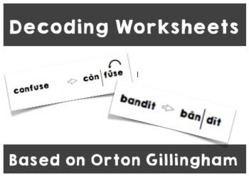Decoding Worksheets