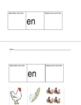 Decoding and Blending Word Families Flip Books with Self-check Pictures