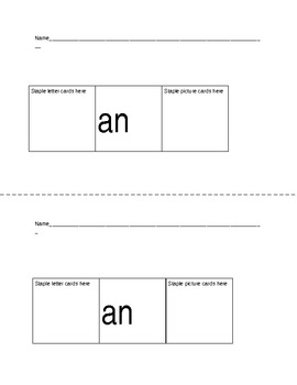 Decoding and Blending Word Families Flip Books with Self-c
