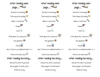 Visual Reading (Decoding and Comprehension) bookmark