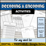 Decoding and Encoding Activities for Any Spelling List