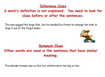 Decoding of Nonsense Words with Context Clue Practice
