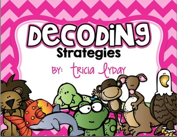 Decoding strategies {Posters & Bookmarks} in CHEVRON- reading strategies