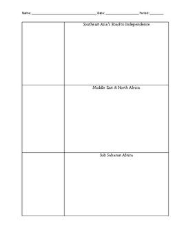 Decolonization Notes