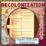Decolonization and Genocide Foldable Film Activity