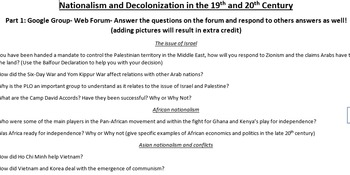Decolonization and Nationalism Project