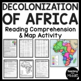 Decolonization of Africa Reading Comprehension Worksheet,