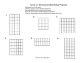 Decompose Numbers/Facts - Distributive Property FREEBIE