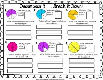 Decompose Fractions by Elementary Lesson Plans   TpT