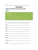 Decompose Fractions Worksheet
