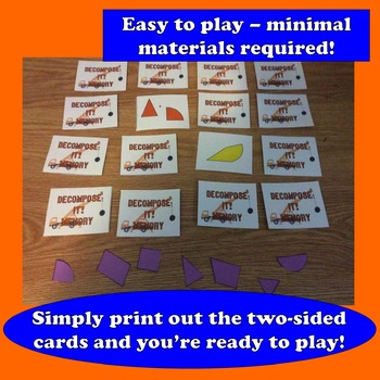 Decompose It! Memory card game + resources set