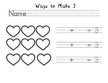 Decompose Numbers 1-10 Common Core