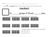Decompose Numbers to 100 with Ten Frames
