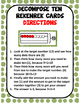 Decompose Ten Subtraction Rekenrek Cards
