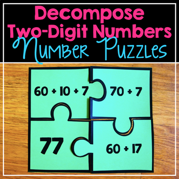 Decompose Two Digit Number Puzzles